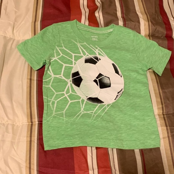 Carter's Other - Baby Boys 24M Green Soccer Short Sleeve T-Shirt